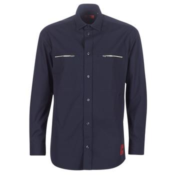 Textiel Heren Overhemden lange mouwen HUGO ETRUS Marine