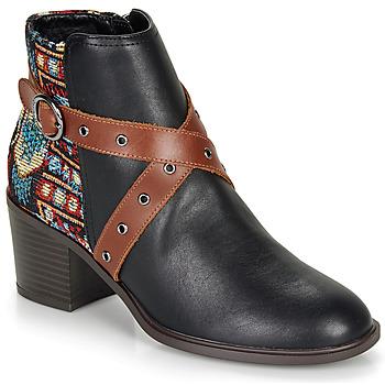 Schoenen Dames Enkellaarzen Desigual ALASKA TAPESTRY Zwart