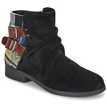 Schoenen Dames Laarzen Desigual OTTAWA PATCH Zwart