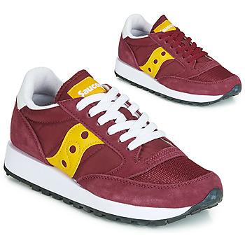 Schoenen Dames Lage sneakers Saucony JAZZ ORIGINAL VINTAGE Bordeaux / Geel