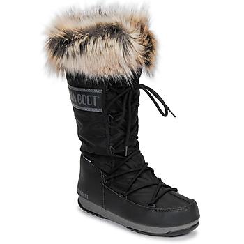 Schoenen Dames Snowboots Moon Boot MOON BOOT MONACO WP 2 Zwart