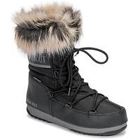 Schoenen Dames Snowboots Moon Boot MOON BOOT MONACO LOW WP 2 Zwart