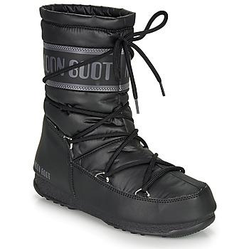 Schoenen Dames Snowboots Moon Boot MOON BOOT MID NYLON WP Zwart