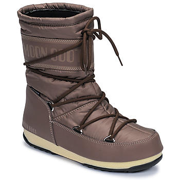 Schoenen Dames Snowboots Moon Boot MOON BOOT MID NYLON WP Brown