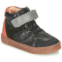 Schoenen Jongens Hoge sneakers Babybotte KEN Zwart / Orange
