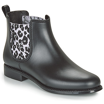 Schoenen Dames Regenlaarzen Be Only DAKAR Zwart / Leopard