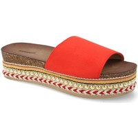 Schoenen Dames Slippers Buonarotti 1AD-19127 Rojo