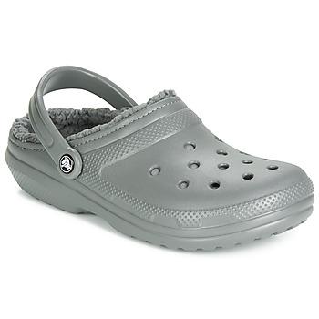 Schoenen Klompen Crocs CLASSIC LINED CLOG Grijs