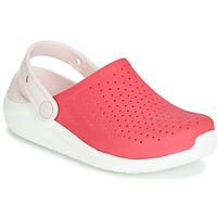 Schoenen Meisjes Klompen Crocs LITERIDE CLOG K Rood / Wit