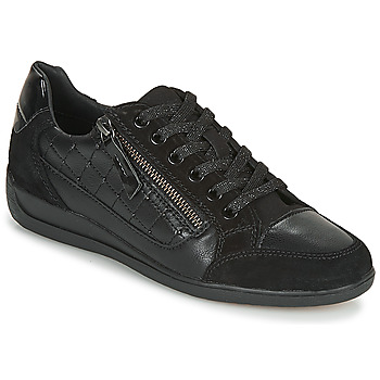 Schoenen Dames Lage sneakers Geox D MYRIA Zwart