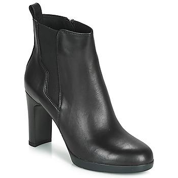 Schoenen Dames Enkellaarzen Geox D ANNYA HIGH Zwart