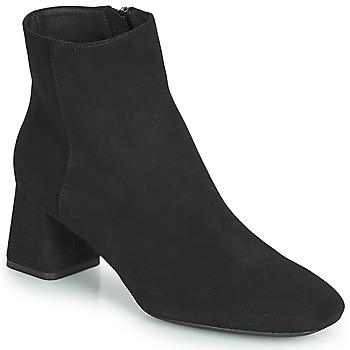 Schoenen Dames Enkellaarzen Geox D SEYLA Zwart