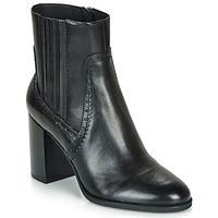 Schoenen Dames Enkellaarzen Geox D JACY HIGH Zwart