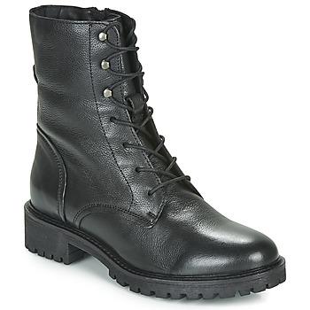 Schoenen Dames Enkellaarzen Geox D HOARA Zwart