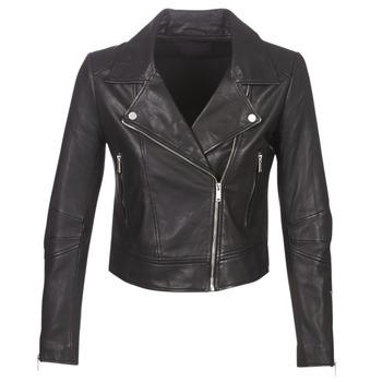 Textiel Dames Leren jas / kunstleren jas Ikks BM48145-02 Zwart