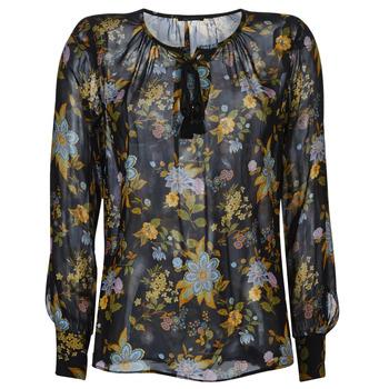 Textiel Dames Tops / Blousjes Ikks BP13125-02 Zwart / Multikleuren