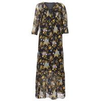 Textiel Dames Lange jurken Ikks BP30195-02 Zwart / Multikleuren