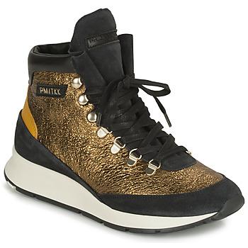 Schoenen Dames Lage sneakers Philippe Model MONTECARLO Goud / Zwart