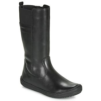 Schoenen Meisjes Hoge laarzen Geox J HADRIEL GIRL Zwart
