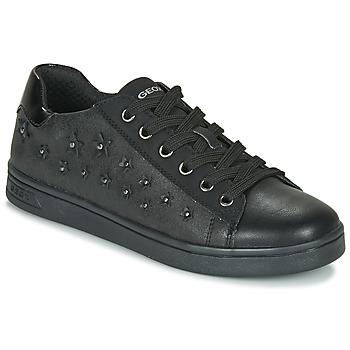 Schoenen Meisjes Lage sneakers Geox J DJROCK GIRL Zwart