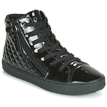 Schoenen Meisjes Hoge sneakers Geox J KALISPERA GIRL Zwart