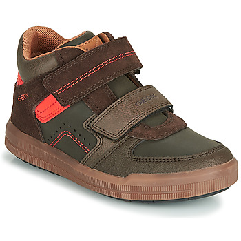 Schoenen Jongens Hoge sneakers Geox J ARZACH BOY Brown / Orange