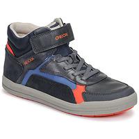 Schoenen Jongens Hoge sneakers Geox J ARZACH BOY Blauw / Orange