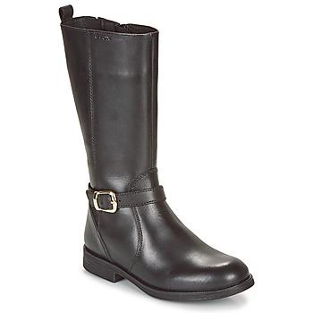Schoenen Meisjes Lage sneakers Geox JR AGATA Zwart