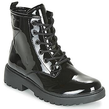 Schoenen Meisjes Laarzen Geox J CASEY GIRL Zwart