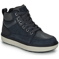 Schoenen Jongens Hoge sneakers Geox J MATTIAS B BOY ABX Blauw / Zwart / Waterproof