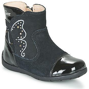 Schoenen Meisjes Hoge laarzen Geox B KAYTAN Zwart
