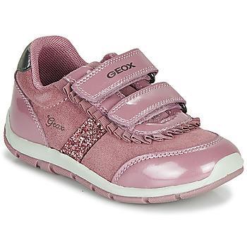 Schoenen Meisjes Lage sneakers Geox B SHAAX Roze