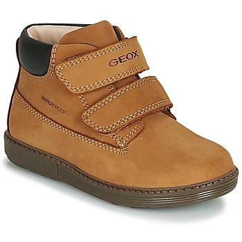 Schoenen Jongens Hoge sneakers Geox B HYNDE BOY WPF Brown