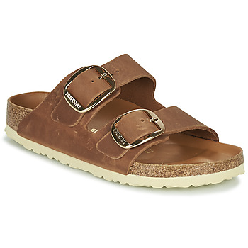 Schoenen Dames Leren slippers Birkenstock ARIZONA BIG BUCKLE Brown