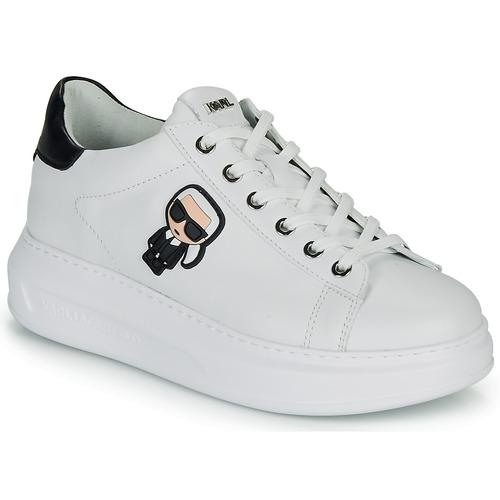 Schoenen Dames Lage sneakers Karl Lagerfeld KAPRI KARL IKONIC LO LACE Wit / Zwart