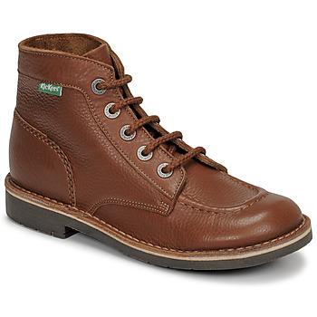 Schoenen Dames Laarzen Kickers KICK COL Brown
