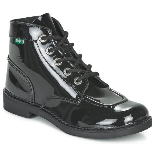 Schoenen Dames Laarzen Kickers KICK COL Zwart / Verni