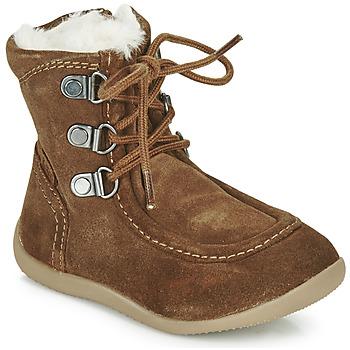 Schoenen Kinderen Hoge laarzen Kickers BAMARA  camel