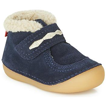 Schoenen Kinderen Laarzen Kickers SOETNIC Marine
