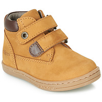 Schoenen Jongens Laarzen Kickers TACKEASY  camel / Brown
