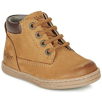 Schoenen Jongens Laarzen Kickers TACKLAND  camel / Brown