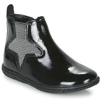 Schoenen Meisjes Laarzen Kickers VERMILLON Zwart