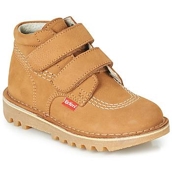 Schoenen Jongens Laarzen Kickers NEOVELCRO  camel