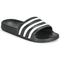 Schoenen Slippers adidas Performance ADILETTE AQUA Zwart / Wit