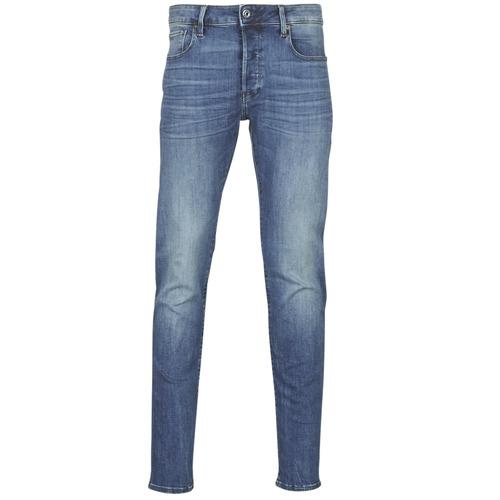 Textiel Heren Skinny jeans G-Star Raw 3301 SLIM Blauw / Vintage / Medium / Aged