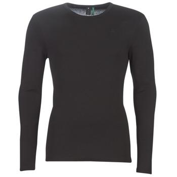 Textiel Heren T-shirts met lange mouwen G-Star Raw BASE TEE Zwart