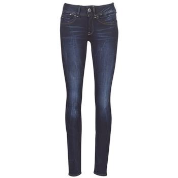 Textiel Dames Skinny Jeans G-Star Raw LYNN MID SKINNY WMN Blauw / Faded / Blauw