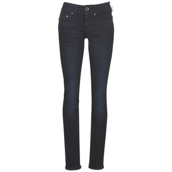 Textiel Dames Straight jeans G-Star Raw MIDGE MID STRAIGHT WMN Blauw / Dark / Aged