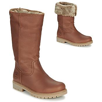 Schoenen Dames Hoge laarzen Panama Jack BAMBINA Brown
