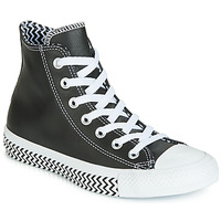 Schoenen Dames Hoge sneakers Converse CHUCK TAYLOR ALL STAR VLTG LEATHER HI Zwart